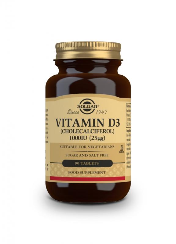 Značky - Solgar Vitamín D3 1000IU tbl. 90