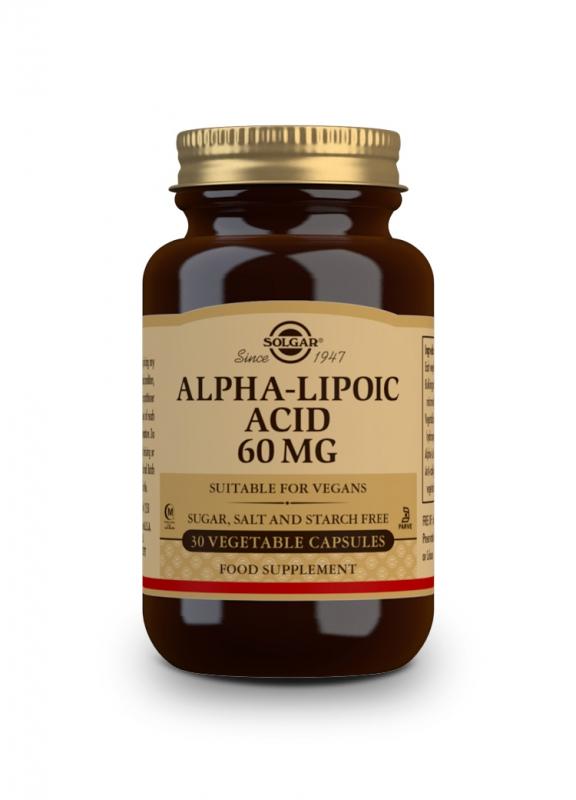 Značky - Solgar ALA 60mg – Kyselina alfa lipoová cps. 30
