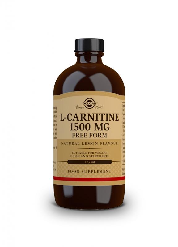 Značky - Solgar L-karnitin 1500 mg – tekutý s přírodní citrónovou příchutí 473 ml