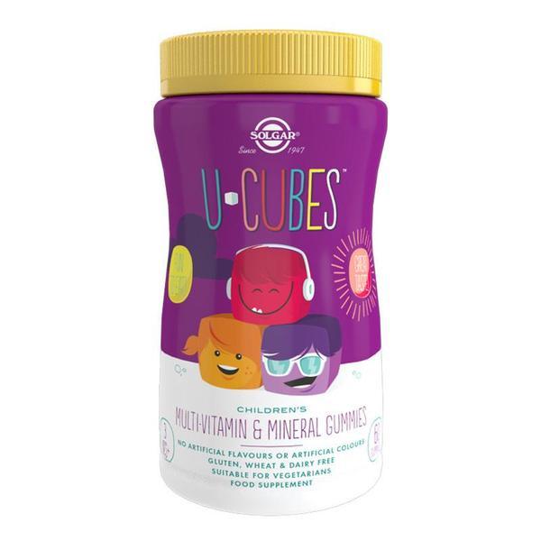Značky - Solgar U-Cubes – dětský, vitamínový gumídci 60 ks