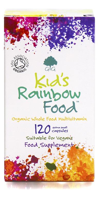 Značky - G&G Vitamins - Bio ORGANIC KID'S RAINBOW FOOD 120 cps