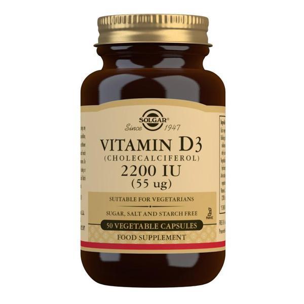 Značky - Solgar Vitamín D3 2200 IU 50 cps