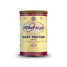 Solgar Whey To Go – Syrovátkový proteinový prášek s přírodní vanilkovou příchutí 340 g